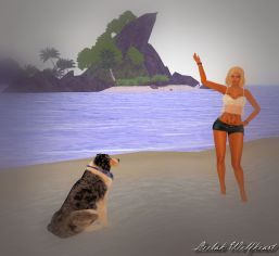 Playing with Angel at the beach_005